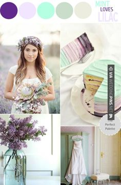 Cool - Color Story   Mint Loves Lilac   CHECK OUT MORE GREAT PURPLE WEDDING IDEAS AT WEDDINGPINS.NET   #weddings #wedding #purplewedding #purpleweddingphotos #events #forweddings #iloveweddings #purple #romance #vintage #planners #ilovepurple #ceremonyphotos #weddingphotos #weddingpictures