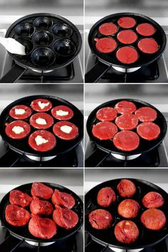 Red Velvet Ebelskivers -  Buy the skillet at www.Your Avon.com/cvmack  Item # 836-470 Includes additional recipes.