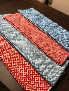 Latvian patterned infinity scarves