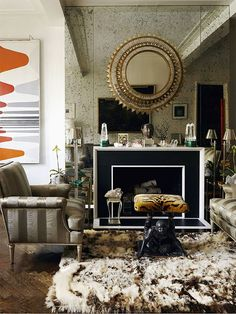 glam living room