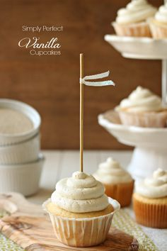 Simply Perfect Vanilla Cupcakes made with Zulka Pure Cane Sugar - yum!