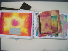 Tie dye research and samples