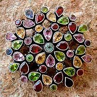 Garnet and amethyst brooch pin pendant, 'Summer Blossom' from @NOVICA, They help #artisans succeed worldwide.