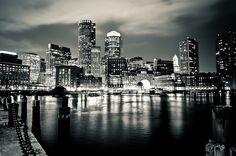 Boston skyline... Boston Skyline Black And White ...