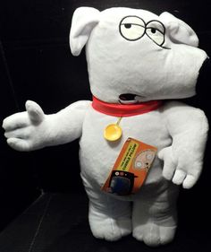 "$54.98 + Calculated shipping~ Novelty Plush Cuddle/throw/Decorative Pillow shaped like ""Brian"" character from TV's Family Guy series.  Measures 22"" long and is NEW WITH TAGS. ~~view more plush toys for youth/kids/children as well as 29 categories of merchandise in my store. I ship globally!  www.shellysssweetfinds.com  #FamilyGuy #BrianFamilyGuy #PlushCharacter #PlushFamilyGuy #NoveltyPillow #FamilyGuyPillow"