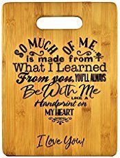 Mothers Gift – Special Love Heart Poem Bamboo Cutting Board Design Mom Gift Mothers Day Gift Mom Birthday Christmas Gift Engraved Side For Décor Hanging Reverse Side For Usage (8.75x11.5 Rectangle) - Simple Shopping Lifestyles