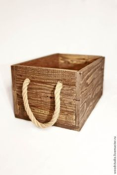 Корзины, коробы ручной работы. Ярмарка Мастеров - ручная работа. Купить Ящик из старого дерева. Handmade. Бежевый, ящик для хранения