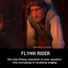 Robert from Enchanted. I think Flynn was the first ANIMATED disney character to question it. Welcome to Disney, Flynn. Welcome to Disney. Disney Pixar, Disney Facts, Disney And Dreamworks, Funny Disney, Disney Characters, Hipster Disney Princesses, Disney Humor, Disney Songs, Disney Tangled