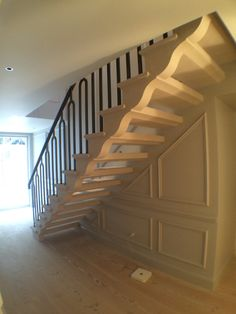 Open Treads Stone Staircase.Portland Limestone. Cantilever Stair. By  Thestonemasonrycompany.co.