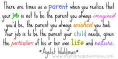 There are times as a parent when you realize...