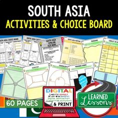 Middle east north africa mena activities choice board print south asia activities choice board print digital google geography sciox Image collections