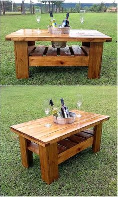 wooden pallet table idea