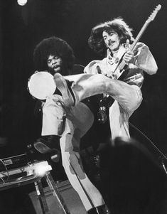 George Harrison onstage with Billy Preston at Madison Square Garden in 1974