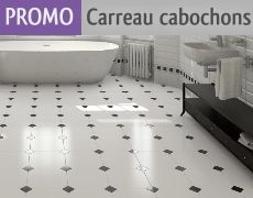 carrelage octogonal 30x30 blanc mat ou noir mat et cabochons boite de 1m as de carreaux. Black Bedroom Furniture Sets. Home Design Ideas