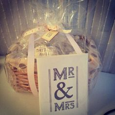 Wedding hamper wrapped and ready to go x