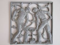 Bauhaus Style Machine-Age Cast Aluminum Wall Panel