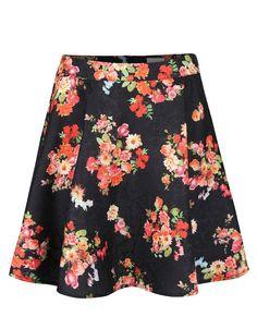 c449f7dd23c Apricot - Černá sukně s barevnými květy - 1 Wish