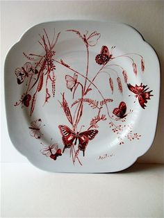 Butterfly Plate ~ Cecil Beaton for Spode 1970