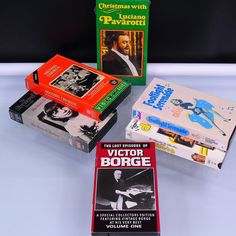 6 VHS Musical Movies Christmas with Luciano Pavarotti Footlight Serenade Chorus Musicals & Broadway Barbara Streisand Victor Borge Luau Party Dress, Victor Borge, Lost Episodes, Movies For Sale, Currier And Ives, Vhs Tapes, Vintage Cookbooks, Things To Sell