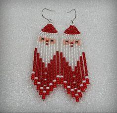 Boho style 351632683398752231 - Beaded Santa Dangle beads earrings tribal style boho Source by elizavetabozhko Seed Bead Jewelry, Bead Jewellery, Seed Bead Earrings, Diy Earrings, Fringe Earrings, Beaded Earrings Patterns, Seed Bead Patterns, Beading Patterns, Bead Jewelry