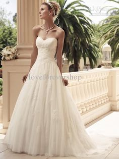 Wholesale 2013 New Arrival Sweetheart Backless Ruffles Applique Floor Length Sexy Bridal Wedding Dresses Gowns, Free shipping, $150.0/Piece | DHgate