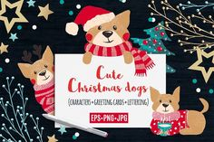 Cute Dogs for Christmas and New Year by romawka on @creativemarket