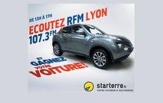 Au mois de septembre, Starterre et RFM Lyon vous font gagner une voiture. Pour cela il vous suffit d'écouter la radio.