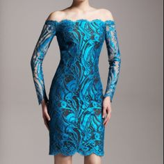 Emillio Pucci rich lace sexy dress in peacock teal Rich endulgent French lace Emilio Pucci Dresses