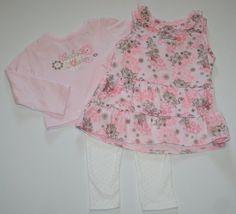 Calvin Klein Baby Girl's 3-piece Tank, Shirt, « Clothing Impulse