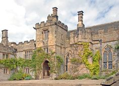 Jane Eyre house- Haddon Hall, a fortified medieval manor house in Derbyshire, England, dating from the 12th Century, was used as the setting for Thornfield in the film.