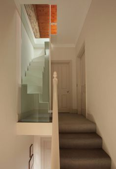 Others,Creative And Unique Staircase Design For Small Space With Shaped White Steps Stair,Brilliant Space Saving Loft Stairs Design Ideas Loft Staircase, Floating Staircase, Modern Staircase, Staircase Design, Staircases, Staircase Ideas, Spiral Staircase, Stair Design, White Staircase