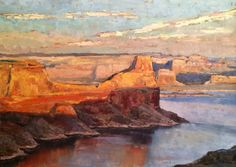 """Lake Powell Morning"", 12x16 oil,  Samuel Smith-  New Works, 2014 for sale at samuelsmithart.com"