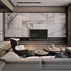Luxury Living Room Designs With Tv Living Room Theaters, New Living Room, Living Room Modern, Living Room Interior, Living Room Designs, Living Room Decor, Small Living, Wall Units With Fireplace, Built In Wall Units