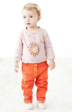 Little Boo-Teek - Baobab Orange Baby Jean   Baby Clothing