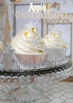 The Sweetest Taste: Oh, blanca Navidad (o cupcakes de manzana y canela)
