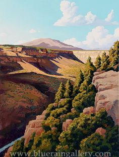 "Doug West, ""Wild Rivers Mesa,"" original painting, oil on canvas, at Blue Rain Gallery, Santa Fe, NM. www.blueraingallery.com"