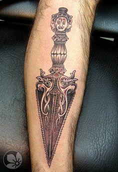 Sorce: http://springtattoo.com ------ dagger tattoo  #tattoo #dagger #tibetan