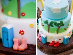 Huntstile Organic Farm | Glastonbury Festival Wedding Cake | www.kerrybartlett.co.uk Festival Themed Wedding, Themed Wedding Cakes, Cool Wedding Cakes, Themed Cakes, Baby Shower Brunch, Baby Shower Cakes, Birthday Party Themes, Birthday Cake, Camping Cakes