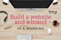 Want to start a business but no skill or budget to build a website or design a brand? Learn how we created both from scratch in a morning for less than £80.