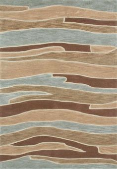 Abacus Blue Brown Rug By Loloi Rugs