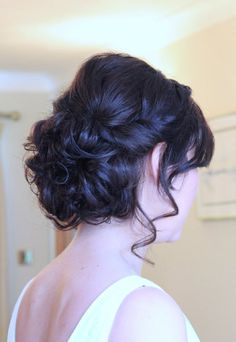 Vintage bridal hairstyle   by Amelia Garwood I like the little bump - it might help balance out my very full skirt :)