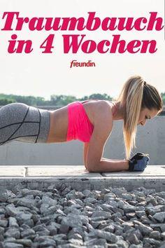 Traumbauch in 4 Wochen: Das Sexy-Bauch-Programm. Schlank, flach und definiert – hier kommt unser Trainingsplan für eine tolle Körpermitte
