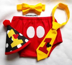 Mickey Mouse Birthday cake smash outfit first boy Minnie Mouse hat diaper cover one banner bow tie twins brother sister 9 12 18 24 m toddler. Mickey Mouse Clubhouse Birthday Party, Mickey Mouse Parties, Mickey Birthday, Mickey Party, Cake Birthday, Minnie Mouse, Twins 1st Birthdays, Baby Boy First Birthday, Cake Smash Outfit