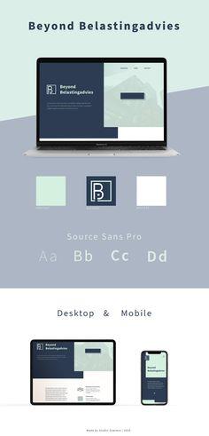 De ontworpen huisstijl voor Beyond Belastingadvies gemaakt door Studio Sowieso Tax Advisor, Studio, Brand Identity, Study