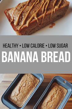 Easy low calorie banana breadToday, I've a good recipe for you. Banana Recipes Low Calorie, Low Calorie Bread, Low Calorie Baking, Low Calorie Vegan, Healthy Bread Recipes, Low Calorie Desserts, No Calorie Snacks, Healthy Baking, Healthy Low Calorie Breakfast