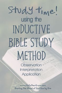 Inductive Bible Stud
