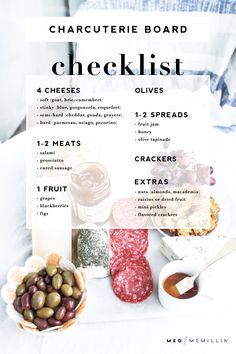how to: make an easy charcuterie board – Meg McMillin - Recipes - FingerFood İdeen Charcuterie Recipes, Charcuterie Platter, Charcuterie And Cheese Board, Charcuterie Wedding, Antipasto Platter, Cheese Platter Board, Cheese Platters, Cheese Boards, Meat Platter