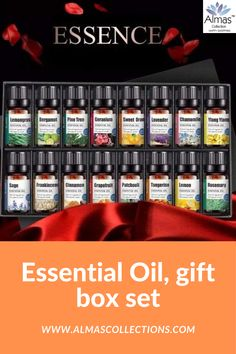 16 peices Essential Oil Gift Box Set ONLY $58.99 + FREE SHIPPING Are you looking for the perfect gift that is relaxing and useful whether it be for a birthday, mother's day, or even a wedding anniversary? Then this is what you really need! Our product will help you relax and keep your home smelling naturally inviting. Our product comes as a mixed gift box of 16 pcs. That makes it a real ideal gift for any occasion. #usa #uk #canada #france #spain #europe, australia #essentailoils, #giftsset Essential Oil Gift Set, Pure Essential Oils, Essential Oil Diffuser, Humidifier Essential Oils, Brown Bottles, Citrus Oil, Friends With Benefits, Bottle Packaging, House Smells