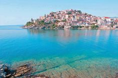 """Kavala city,in north Greece,is also called """"blue city""""and is known as small Monte Karlo. Best Places To Travel, Best Cities, Places To Visit, European Destination, European Travel, Greece Pictures, Greece Holiday, Blue City, Greece Islands"""
