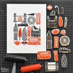 Meet Andrea Lauren, a lino print artist.